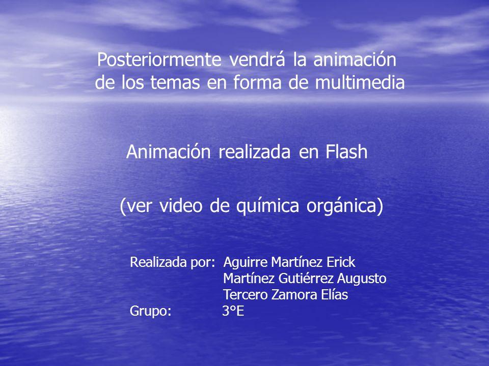 Posteriormente vendrá la animación de los temas en forma de multimedia
