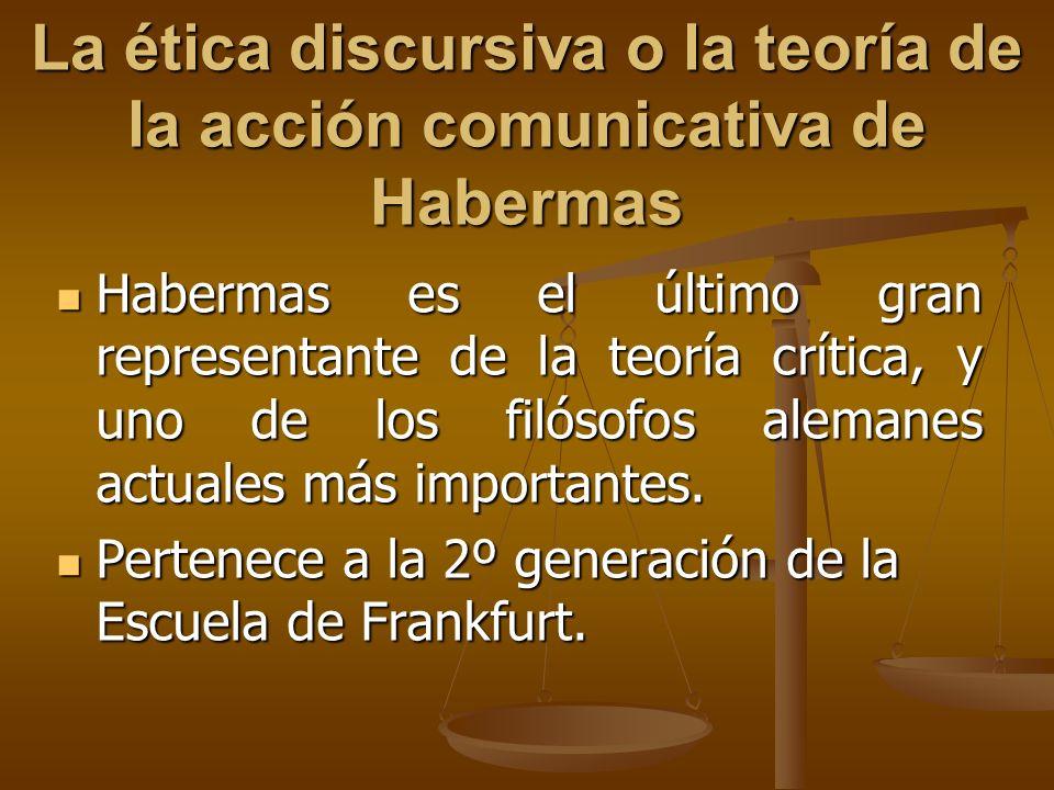 La ética discursiva o la teoría de la acción comunicativa de Habermas