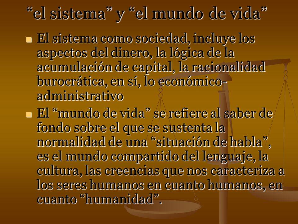 el sistema y el mundo de vida