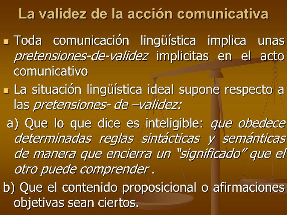La validez de la acción comunicativa