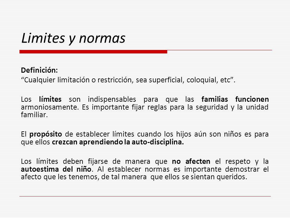 Limites y normas Definición:
