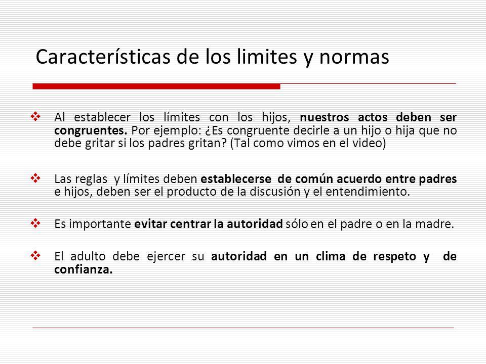 Características de los limites y normas