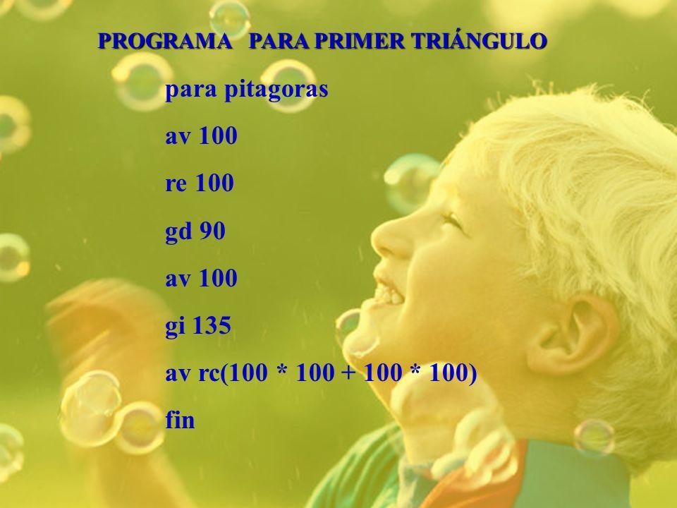 para pitagoras av 100 re 100 gd 90 gi 135 av rc(100 * 100 + 100 * 100)