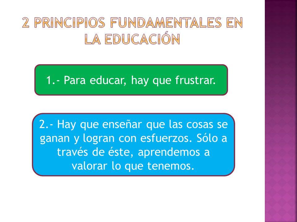2 principios fundamentales en la educación