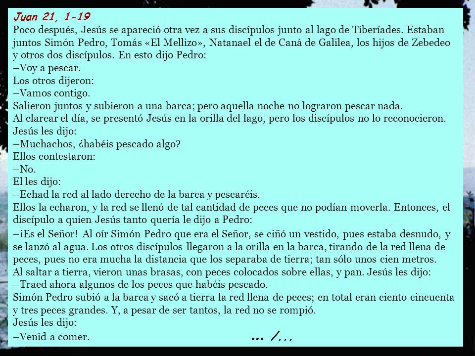 Juan 21, 1-19