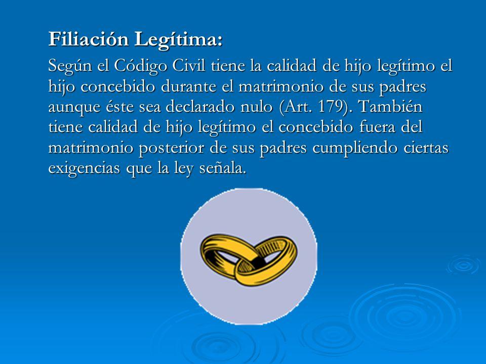 Filiación Legítima: