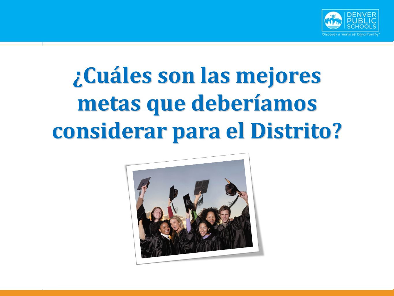 Text here ¿Cuáles son las mejores metas que deberíamos considerar para el Distrito.
