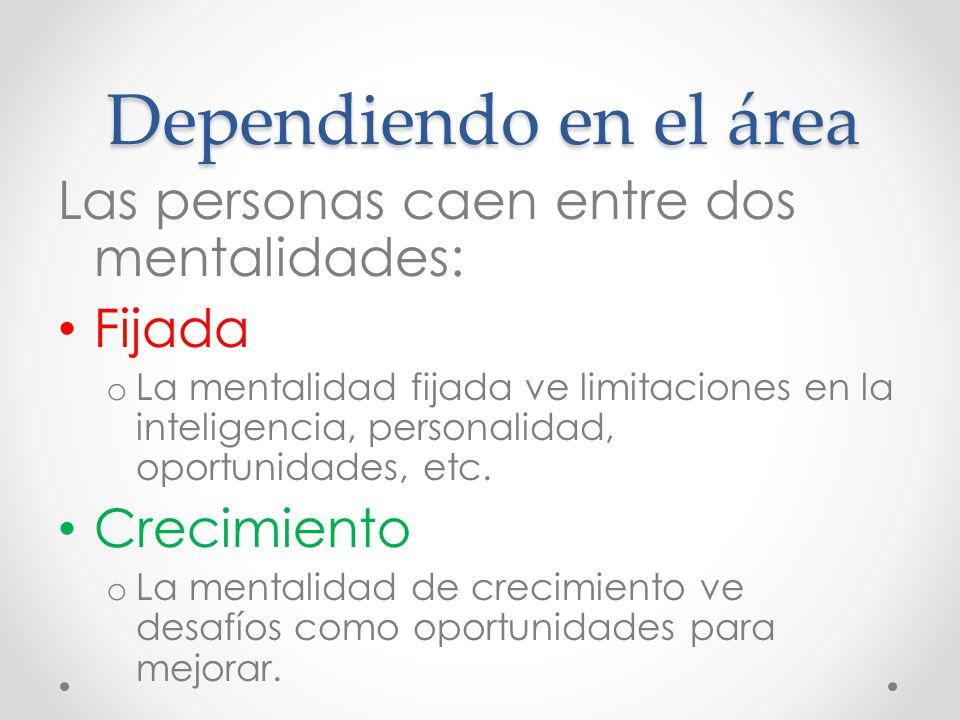 Dependiendo en el área Las personas caen entre dos mentalidades: