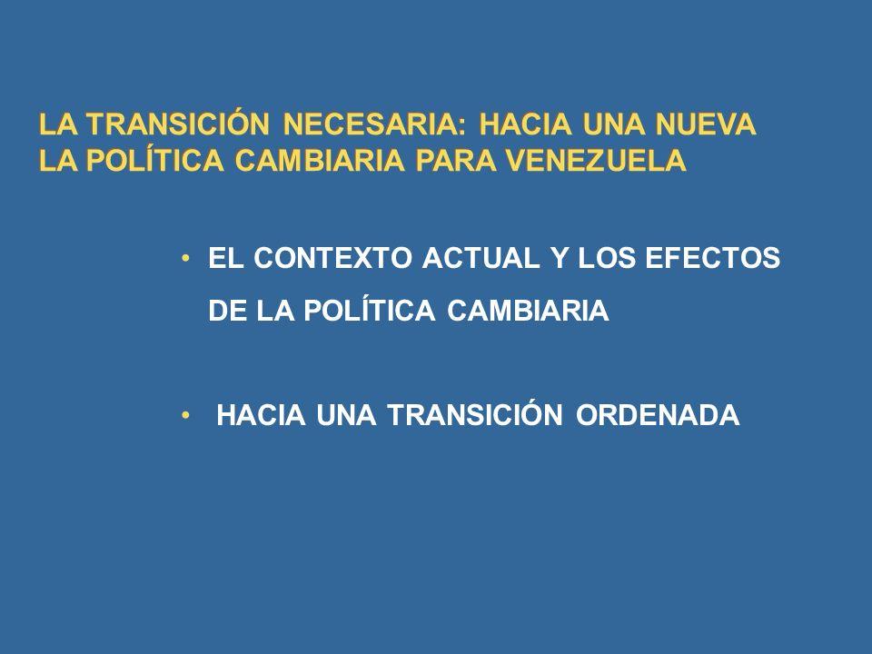 LA TRANSICIÓN NECESARIA: HACIA UNA NUEVA LA POLÍTICA CAMBIARIA PARA VENEZUELA