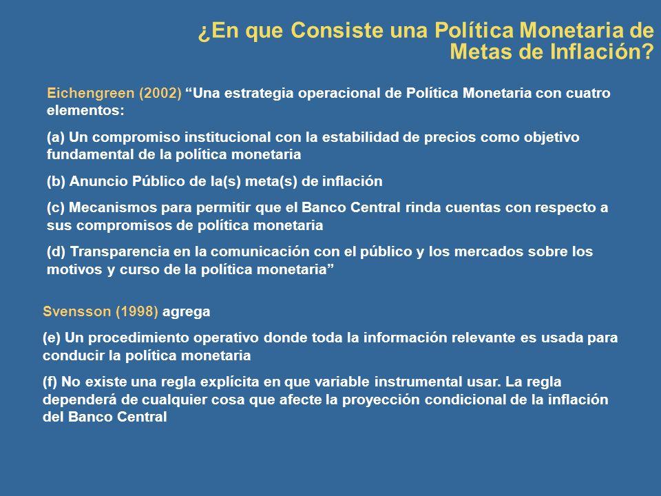 ¿En que Consiste una Política Monetaria de Metas de Inflación