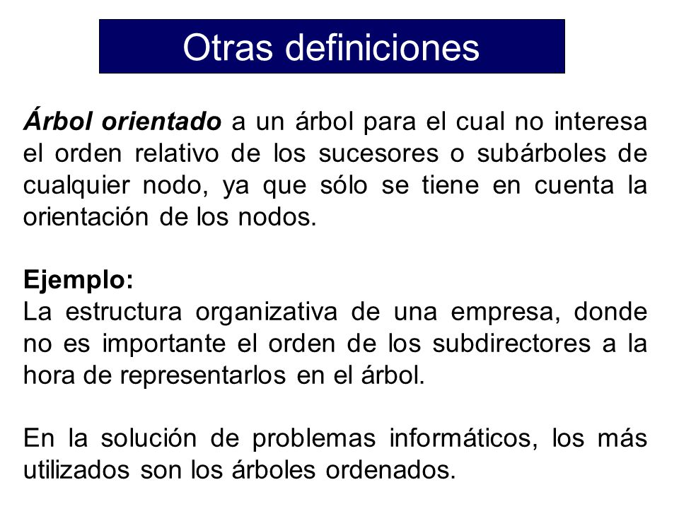 Otras definiciones