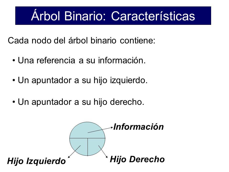 Árbol Binario: Características