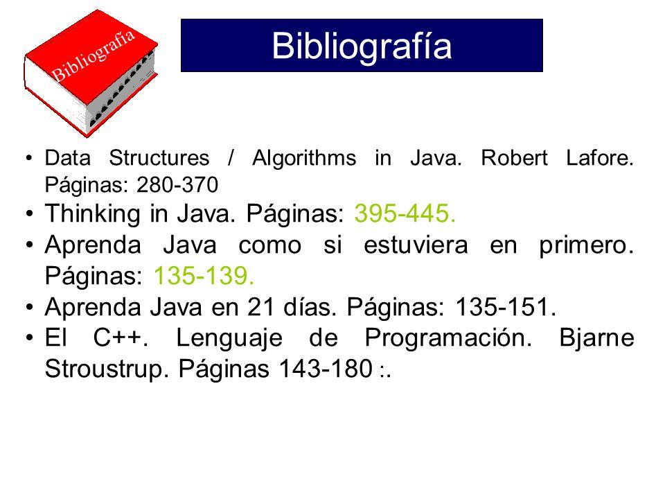 Bibliografía Thinking in Java. Páginas: 395-445.