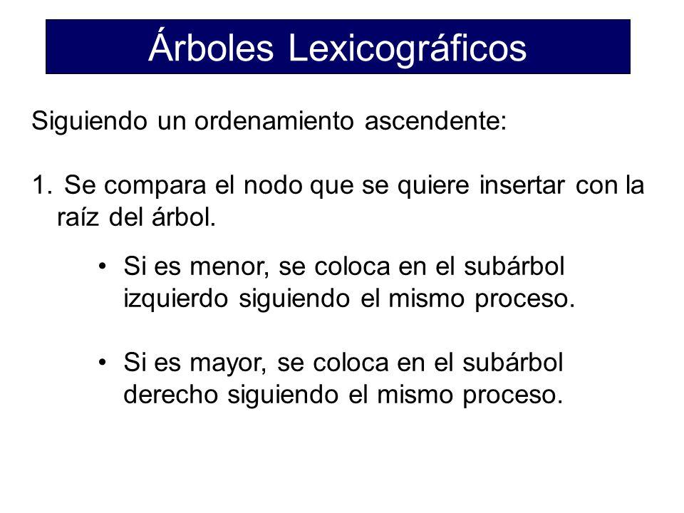 Árboles Lexicográficos