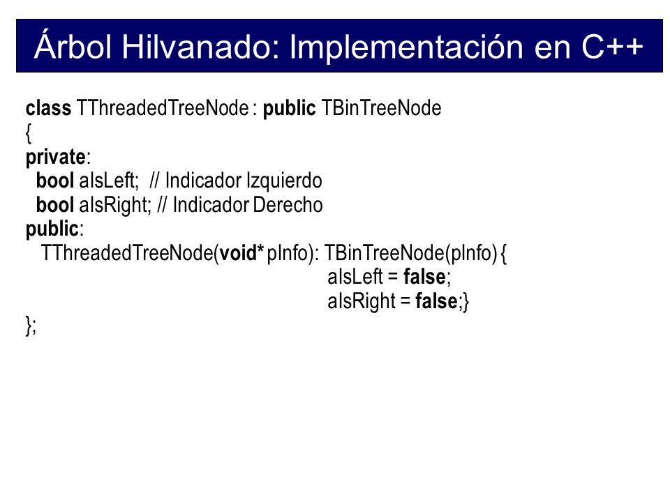 Árbol Hilvanado: Implementación en C++