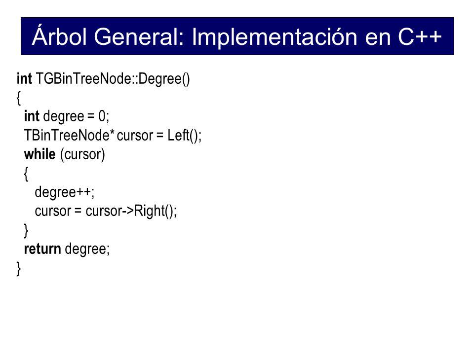Árbol General: Implementación en C++