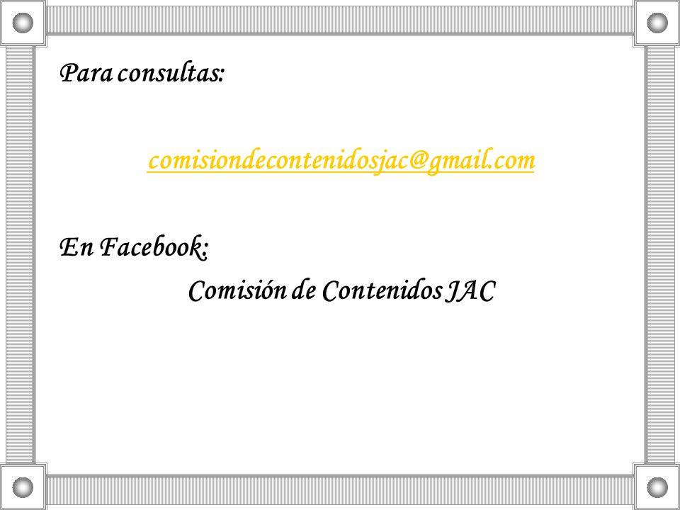 Comisión de Contenidos JAC