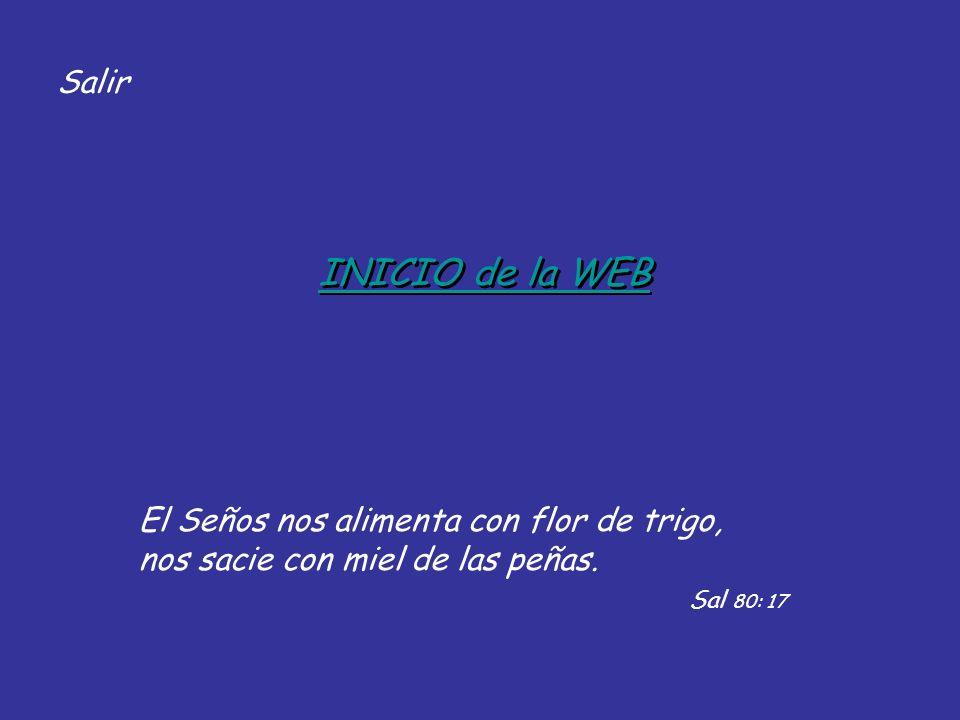 INICIO de la WEB Salir El Seños nos alimenta con flor de trigo,