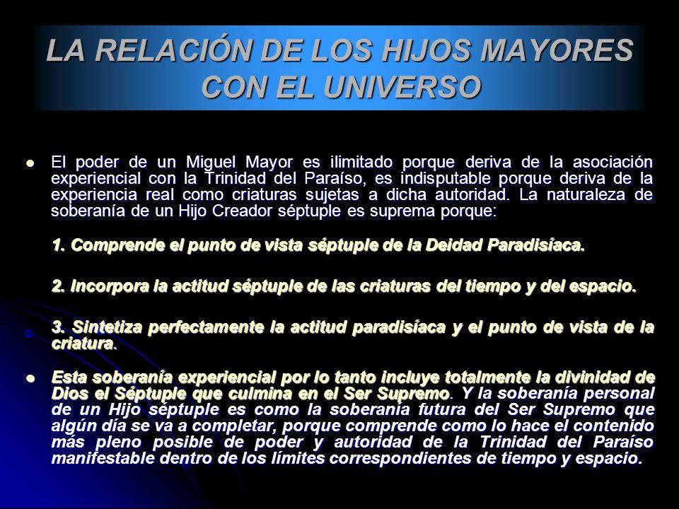 LA RELACIÓN DE LOS HIJOS MAYORES CON EL UNIVERSO