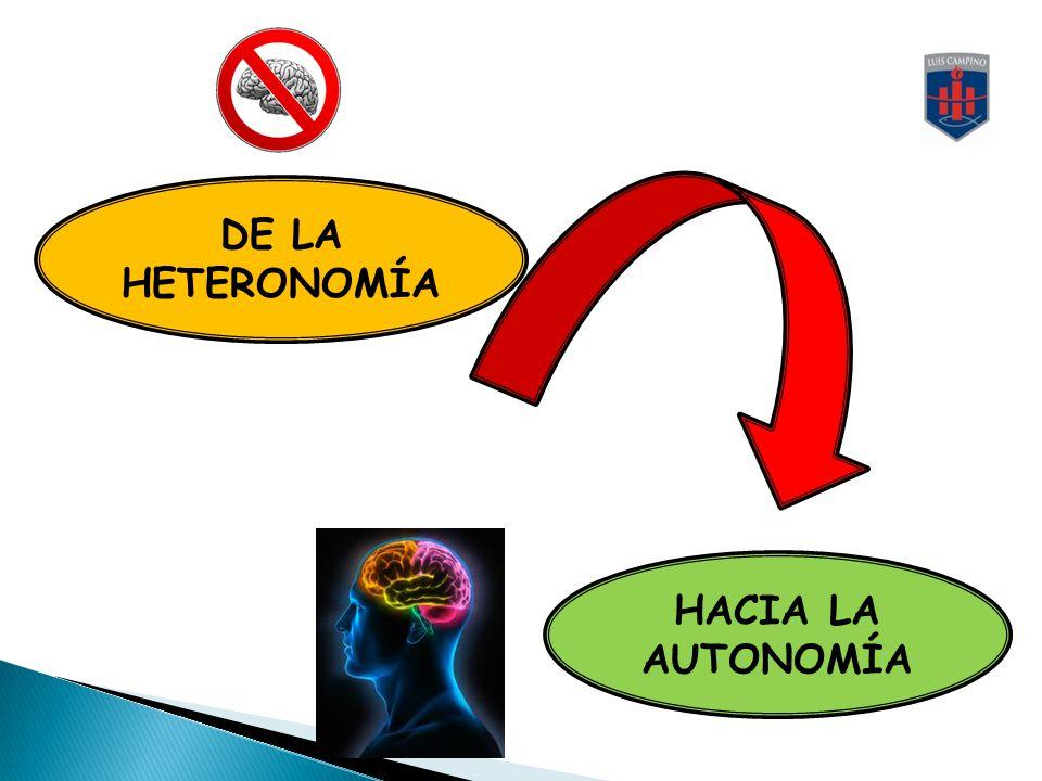 DE LA HETERONOMÍA HACIA LA AUTONOMÍA