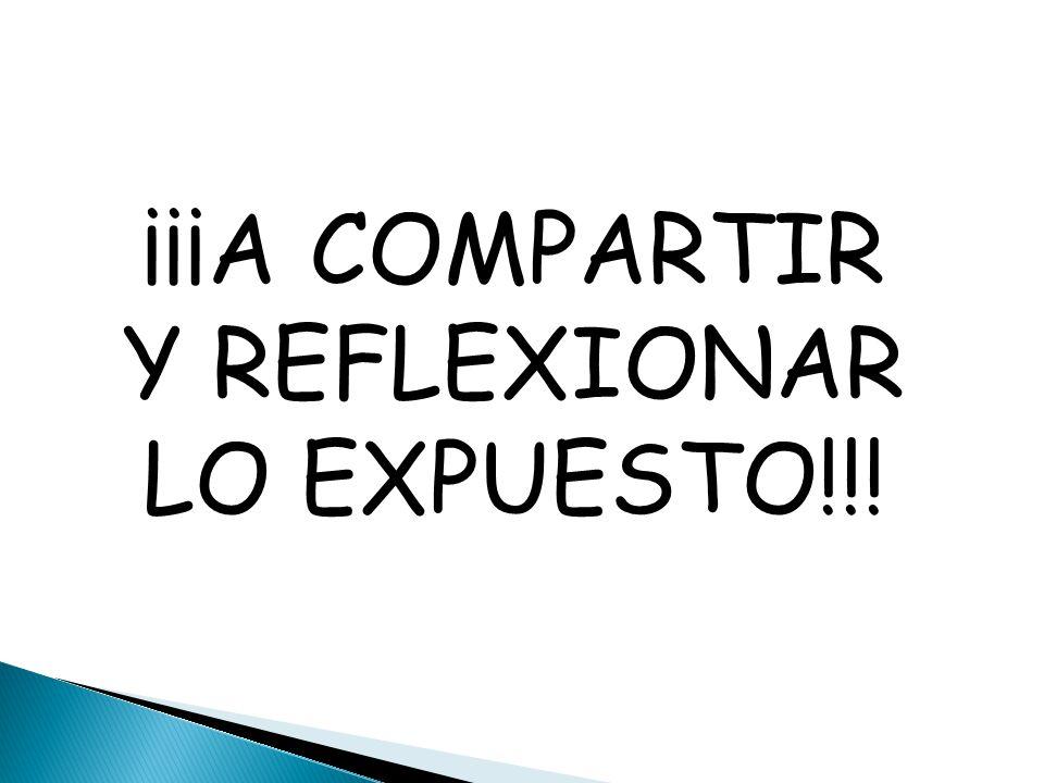 ¡¡¡A COMPARTIR Y REFLEXIONAR LO EXPUESTO!!!