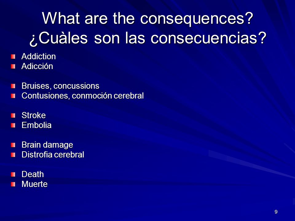 What are the consequences ¿Cuàles son las consecuencias