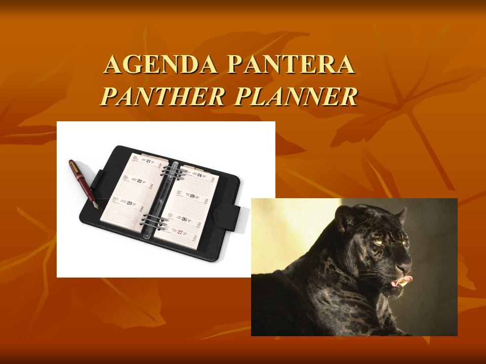 AGENDA PANTERA PANTHER PLANNER
