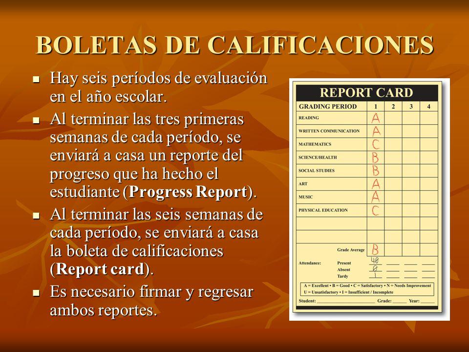 BOLETAS DE CALIFICACIONES