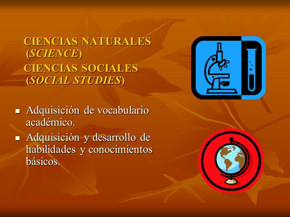CIENCIAS NATURALES (SCIENCE)