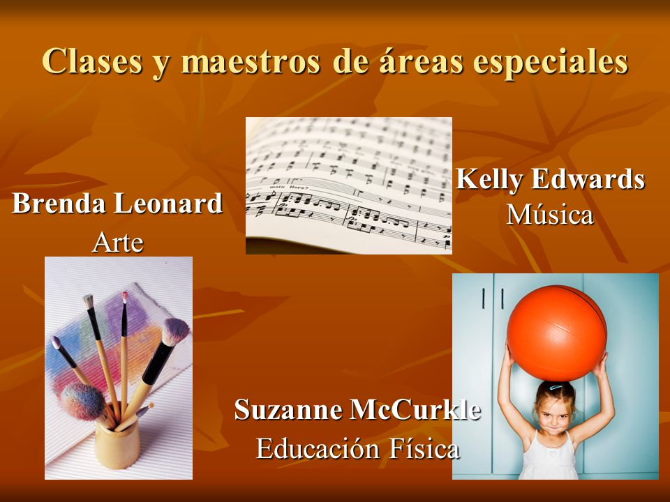 Clases y maestros de áreas especiales