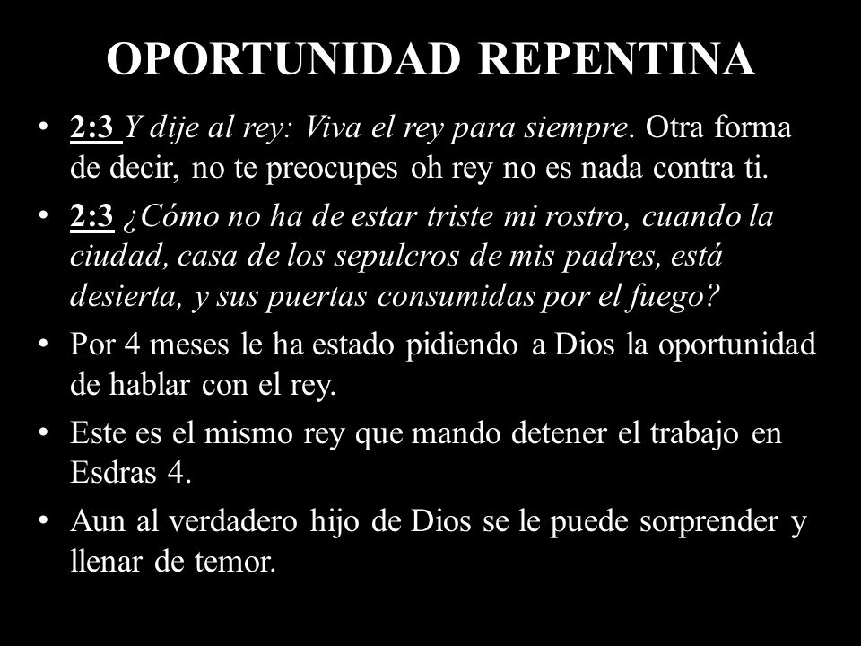 OPORTUNIDAD REPENTINA
