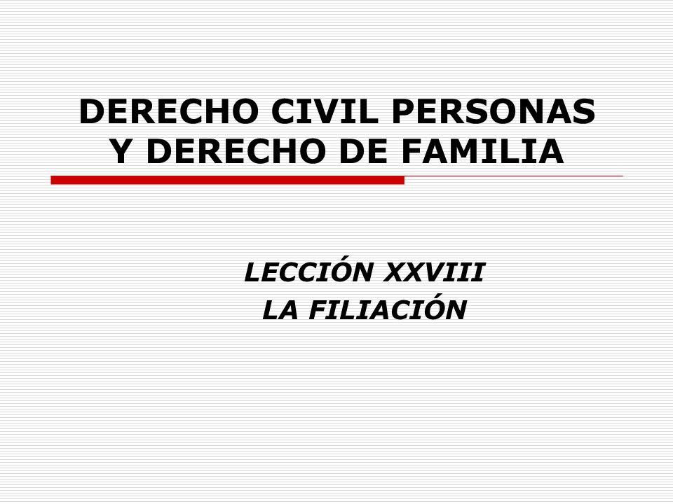 DERECHO CIVIL PERSONAS Y DERECHO DE FAMILIA