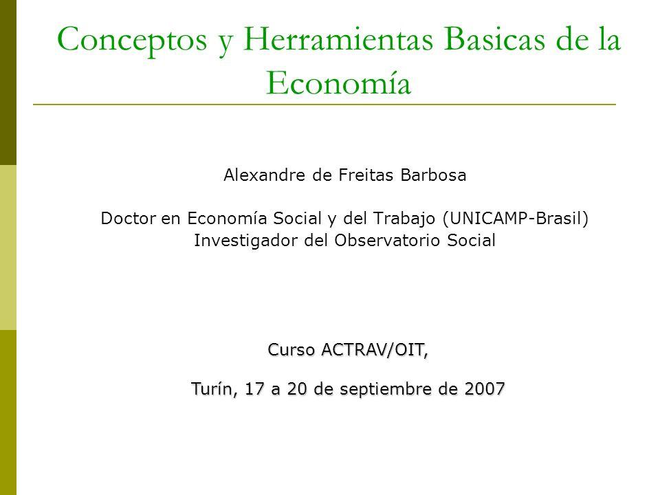 Conceptos y Herramientas Basicas de la Economía