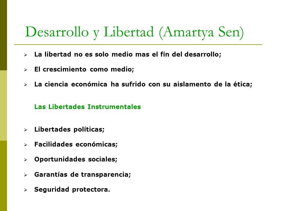 Desarrollo y Libertad (Amartya Sen)