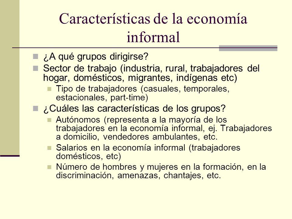 Características de la economía informal