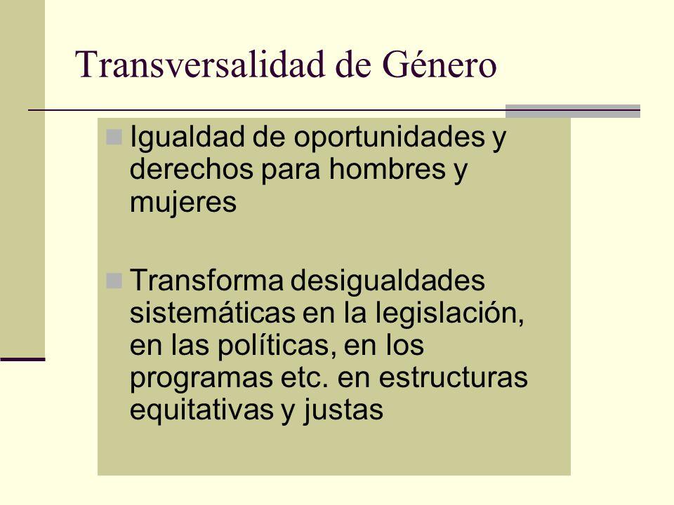 Transversalidad de Género