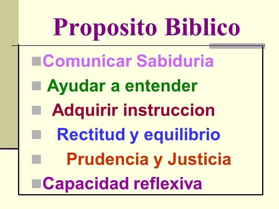 Proposito Biblico Comunicar Sabiduria Ayudar a entender