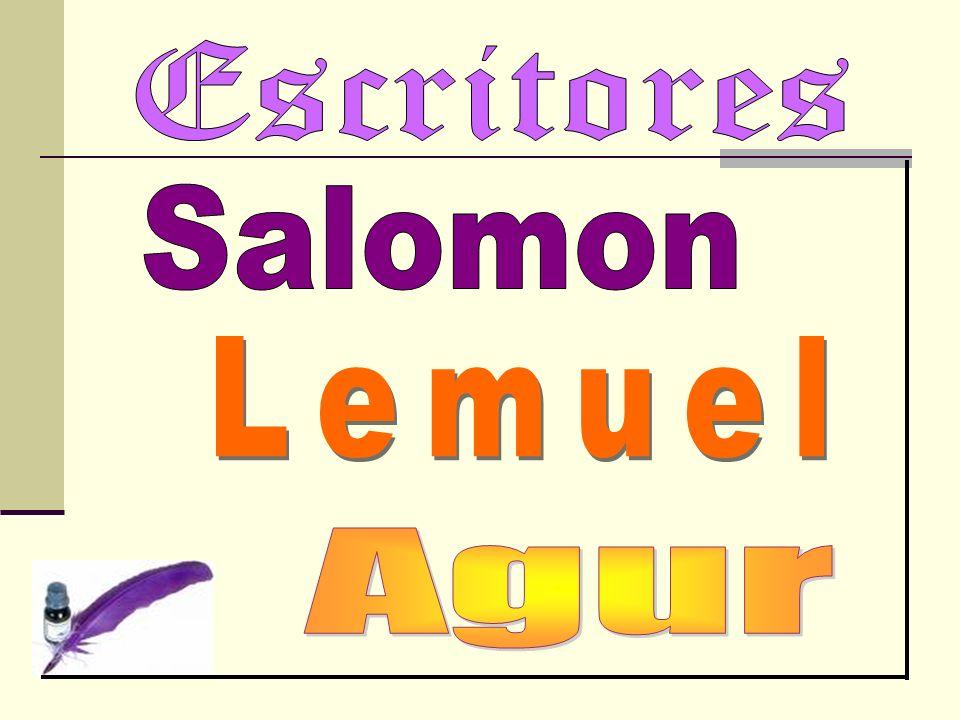 Escritores Salomon Lemuel Agur