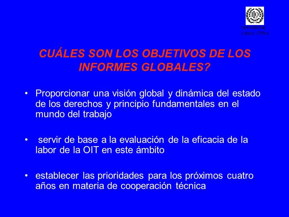 CUÁLES SON LOS OBJETIVOS DE LOS INFORMES GLOBALES