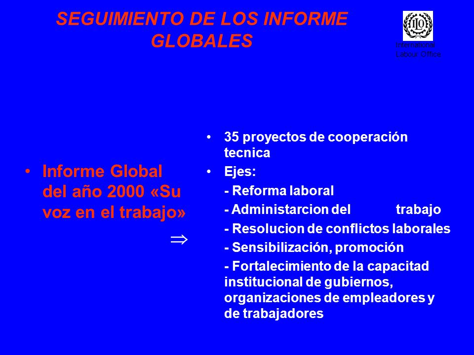 SEGUIMIENTO DE LOS INFORME GLOBALES