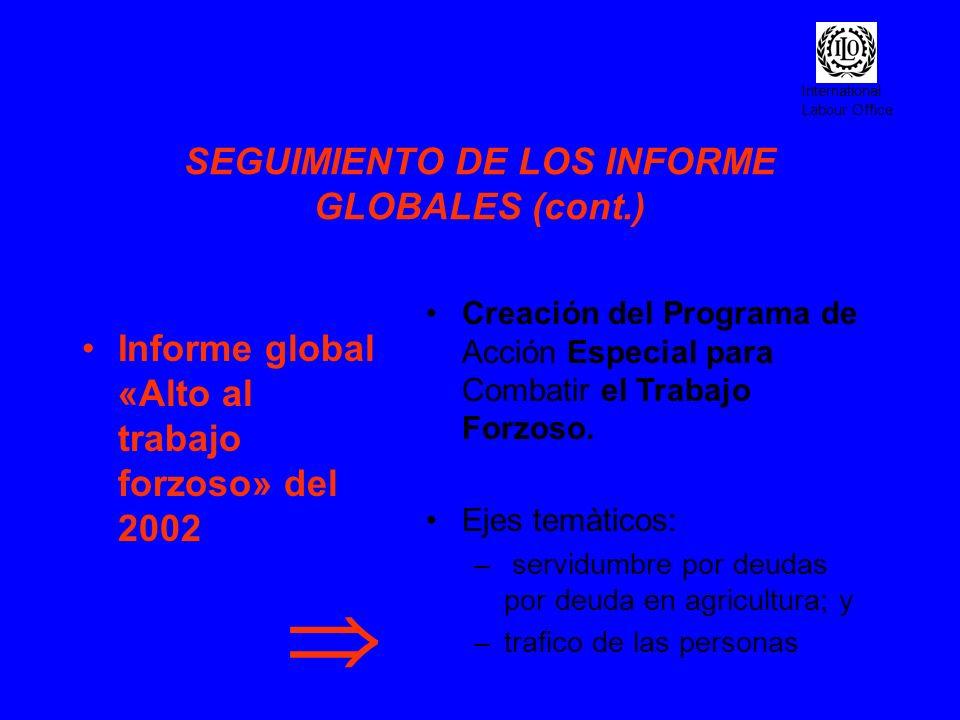 SEGUIMIENTO DE LOS INFORME GLOBALES (cont.)