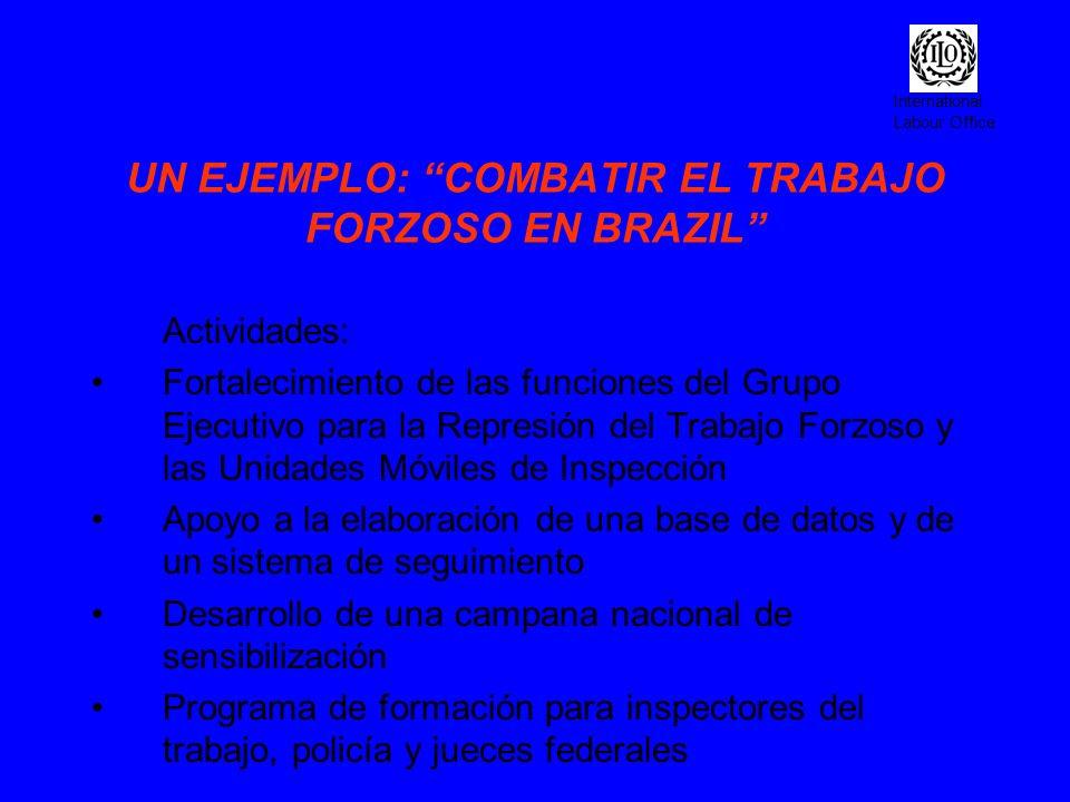 UN EJEMPLO: COMBATIR EL TRABAJO FORZOSO EN BRAZIL