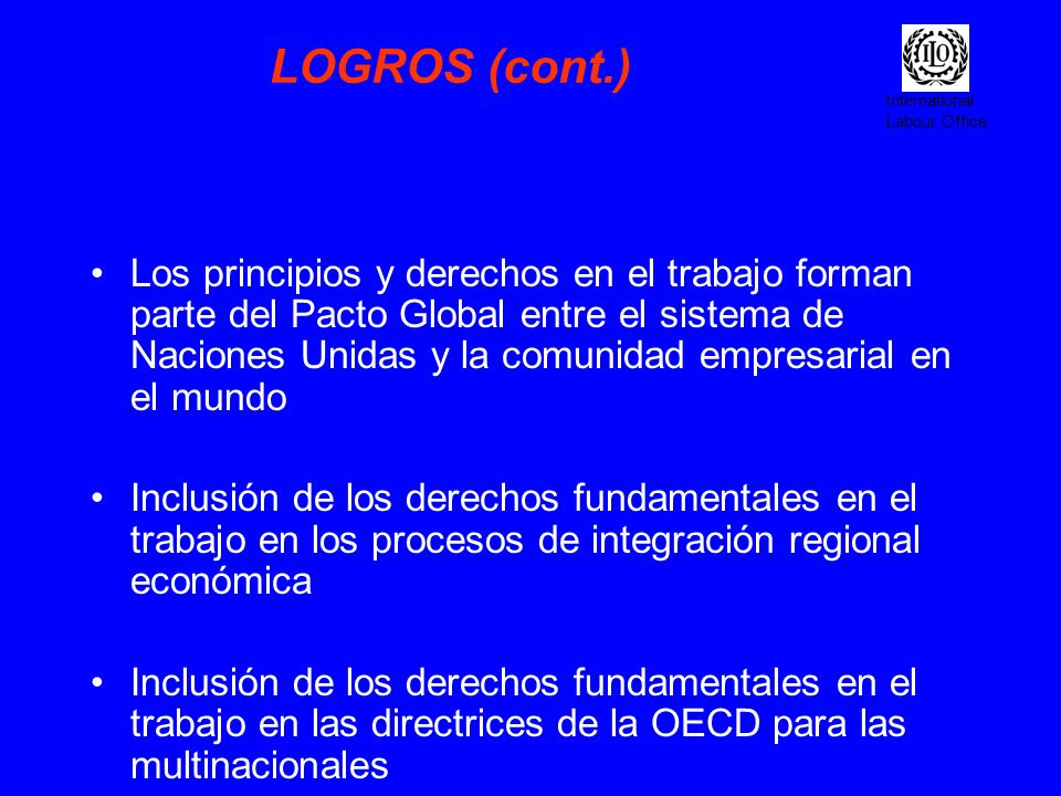 LOGROS (cont.)