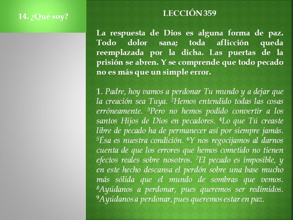14. ¿Qué soy LECCIÓN 359.