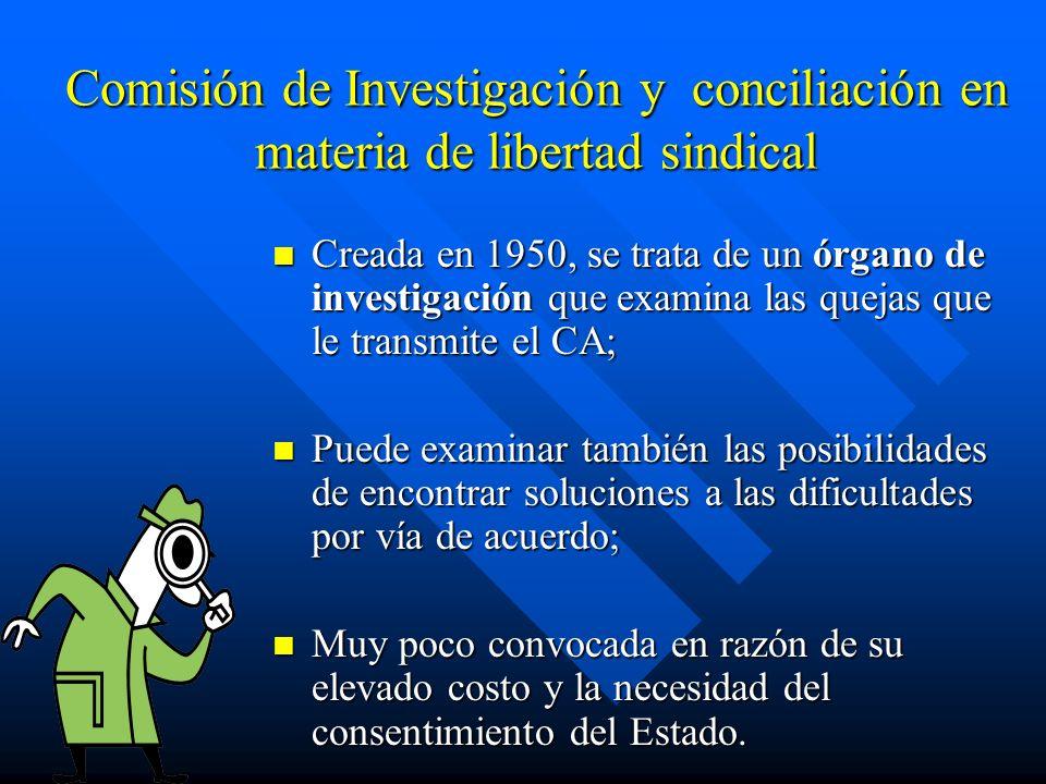 Comisión de Investigación y conciliación en materia de libertad sindical