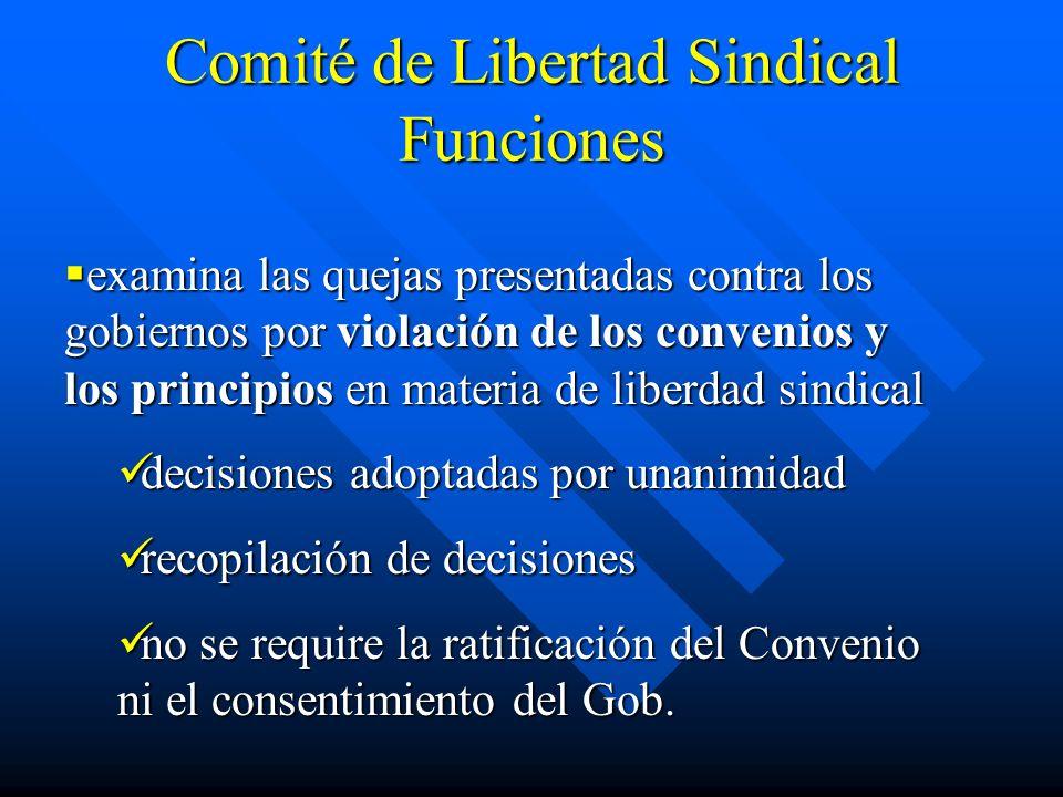 Comité de Libertad Sindical Funciones