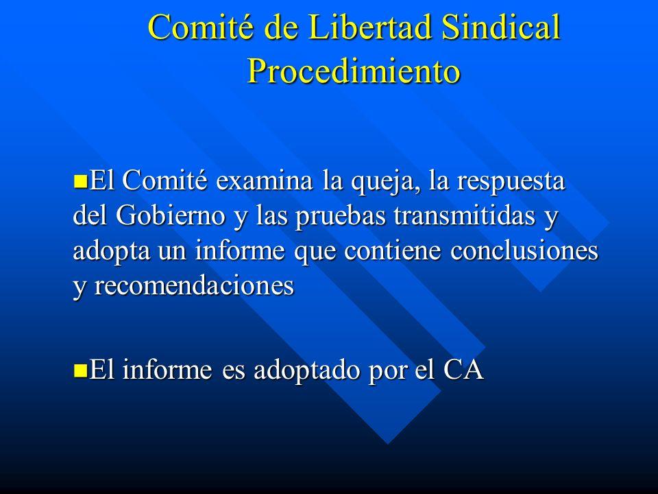 Comité de Libertad Sindical Procedimiento