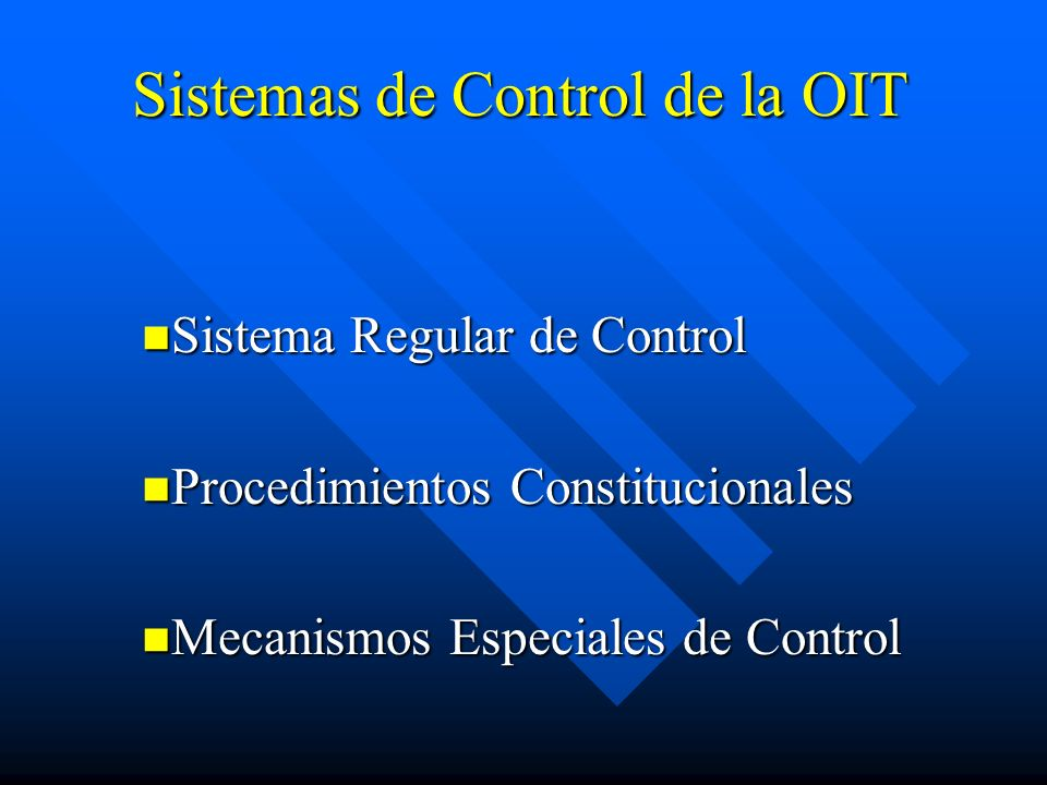 Sistemas de Control de la OIT