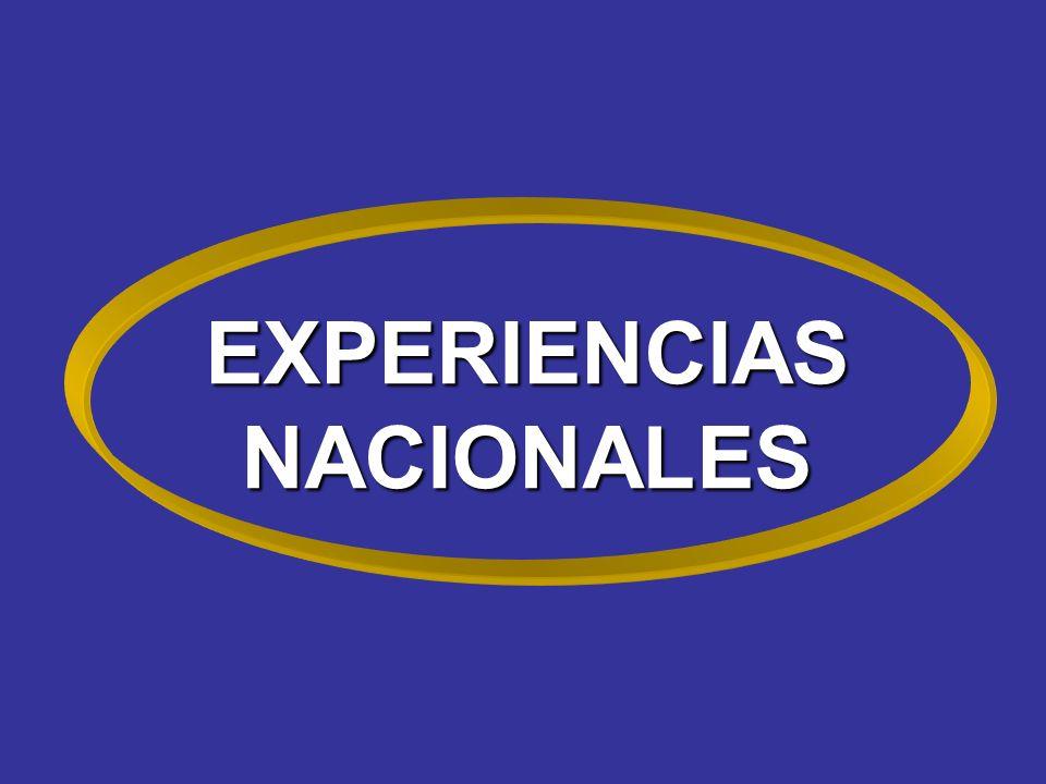 EXPERIENCIAS NACIONALES