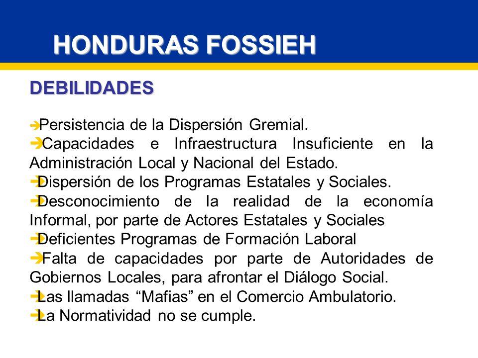 HONDURAS FOSSIEH DEBILIDADES